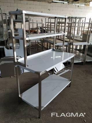 Стол раздаточный с надстройкой из нержавеющей стали