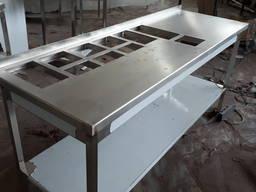 Стол с отверстиями под гастроемкости для шаурмы