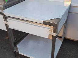 Стол с выдвижным ящиком из нержавеющей стали