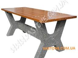 Стол садовый бетонный, дачный, столик декоративный в беседку