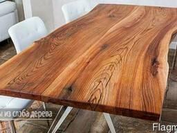 Стол, слэбы из дерева (спилы деревьев)
