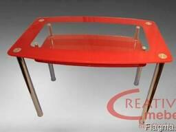 Стол стеклянный кухонный Шарм