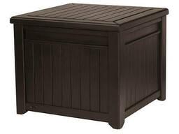 Стол-сундук Cube Wood Storage Box 208 L Allibert, Keter
