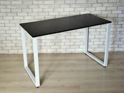 Стол Тавол КС 8. 1 металл опоры белые 140смх60смх75см ДСП. ..