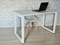 Стол Тавол КС 8. 3 металл опоры белые 140смх70смх75см ДСП. ..