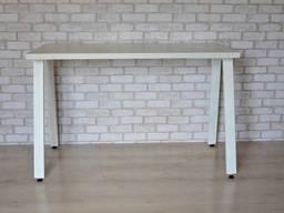 Стол Тавол КС 8. 4 металл опоры белые 100смх60смх75см ДСП. ..
