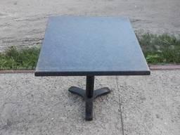 Стол верзалитовый б. у серый, мебель бу в столовую кафе бар