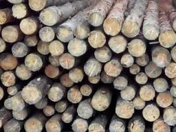 Столб подтоварник кругляк лес тонкомер заборный строительный