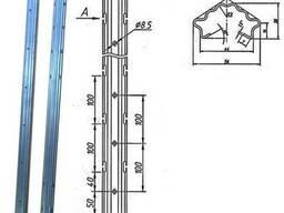 Столбик металлический для виноградников и садов