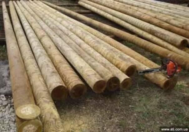 Столбы деревянные пропитанные