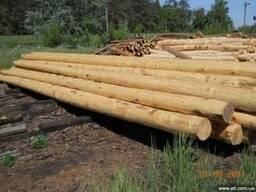 Столбы (опоры ЛЭП, связи) деревянные пропитанные