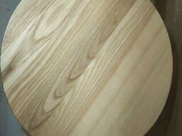 Столешница деревянная круглая Ясень масло/лак, 40мм, 1. . .