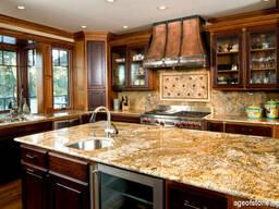 Столешница из гранита и мрамора на кухню мебель кухонная - фото 8
