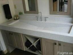 Столешницы в ванную комнату из кварца