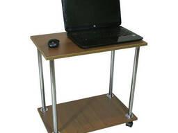Столик для ноутбука Тавол Loco Орех Хром