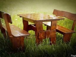 Столик журнальный деревянный 750*510