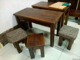 Столы и стулья (табуретки), дуб