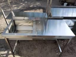 Столы, мойки, полки из нержавейки нержавеющей стали - photo 5