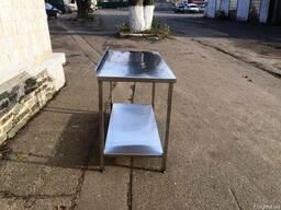 Столы производственные борт полка столы из нержавеющей стали