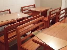 Столы со скамейками для кафе, летних площадок, на дачу