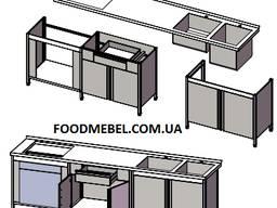 Столы тумбы из нержавейки для барбекю зоны и летней кухни