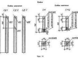 Стойка мостовая на цоколе СМЦ (L - 600 мм) оцинкованная
