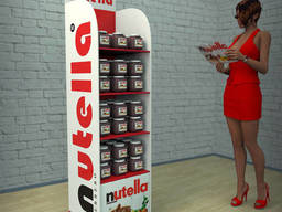 Стойка торговая Nutella