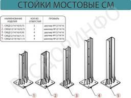 Стойки мостовые СМ и стойки на цоколе СМЦ