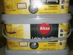 Стойкий лак для паркета Altax Альтакс цветной 5л