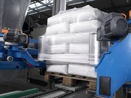 Линия упаковки паллет в Стрейч-Худ (Stretch Hood Packaging)