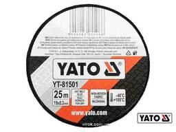 Стрічка ізоляційна на тканинній основі чорна YATO 25 м x 19 x 0.3 мм -40°С - +105°С