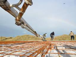 Строительные бетонные работы. Строительство фундамента.