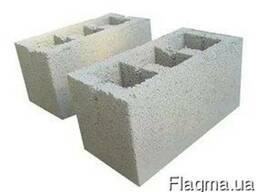 Строительные Блоки, Вибропрессованные. серые. 390*190*190