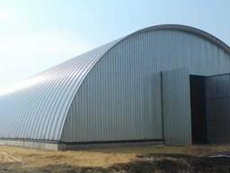Ангары. Строительство бескаркасных ангаров, зернохранилищ