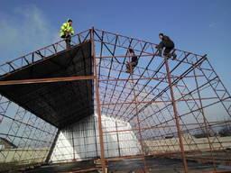 Строительство быстро возводимых ангаров, складов дёшево