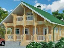 Строительство деревяного дома из оцилиндрованного бревна 11х