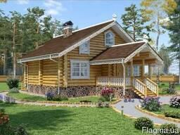 Строительство дома из оцилиндрованного бревна под ключ