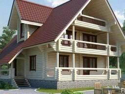 Строительство дома из оцилиндрованного бревна 10х11 м