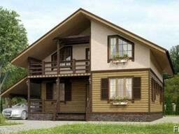 Строительство дома из профилированного бруса 9х11 м