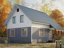 Строительство дома из профилированного бруса 8х8 м