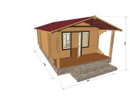 Строительство домов из профилированного бруса с верандой. ..
