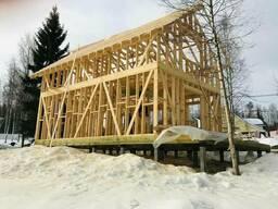 Строительство фундамента на сваях зимой