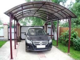 Строительство навесов для авто «под ключ» в Киеве и Киевской