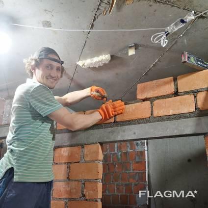 Строительство перегородок из газоблока в Приморском районе, Одесса