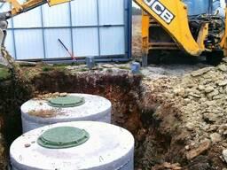 Строительство выгребных ям, септиков, дренажное поле.