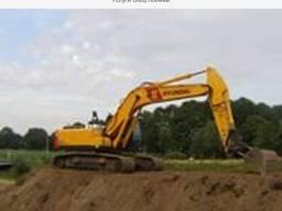 Услуги гусеничного экскаватора Хюндай 250 объем ковша 1, 2м3