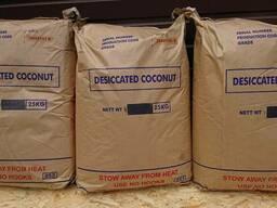 Стружка кокосовая медиум 65%, файн 50%-65%.