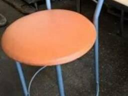 Стул барный бу оранжевый