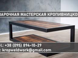 Стул стол из металла стали в стиле лофт хайтек