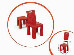 Детский стул-табурет Doloni TOYS высота табуретки 30 см (Красный) (04690/5)